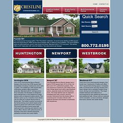 Off-site engineered homes by Crestline Custom Builers—VA, NC, SC