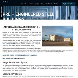 Pre-Engineered Steel Structure for Building Design in USA – Pavilion Structure