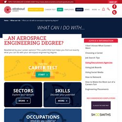 What can I do with an aerospace engineering degree?