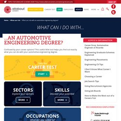 What can I do with an automotive engineering degree?
