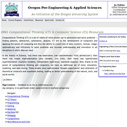 Oregon Pre-Engineering & Applied Science Initiative