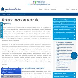 Online Engineering Assignment Services in Australia