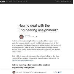 How to deal with the Engineering assignment? - Koby Mahon — КОНТ