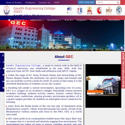 GEC Top Engineering Colleges in Odisha