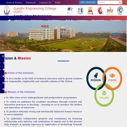 Vision & Mission of Gandhi Engineering College