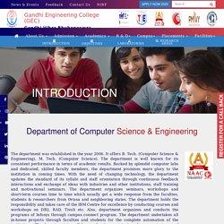 Gandhi Engineering College - Department of Computer Science & Engineering