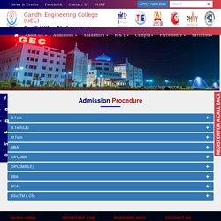 Gandhi Engineering College - B. Tech College in Bhubaneswar
