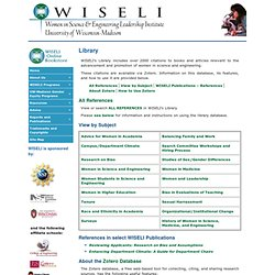 Library : Women In Science & Engineering Leadership Institute (WISELI) Online Bibliography