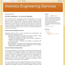 Avionics Engineering Services: DO-254 Certification - An Avionics Requisite