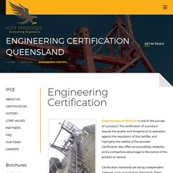 Engineering Certification Queensland