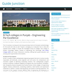 Top Engineering Colleges,B.Tech Courses in Chandigarh Punjab