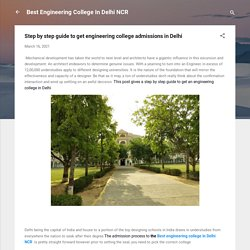 Step by step guide to get engineering college admissions in Delhi