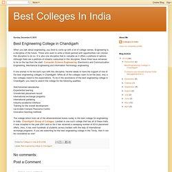 Best Engineering College in Chandigarh