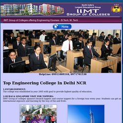 Top Engineering College in India - IIMT for B. Tech, M. Tech