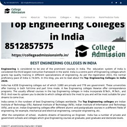 Top 100 Engineering Colleges in India