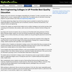 Best Engineering Colleges in UP Provide Best Quality Education