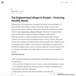 Top Engineering Colleges in Punjab — Fostering Healthy Minds