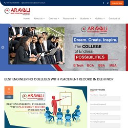 Best Engineering Colleges with Placement Record in Delhi NCR