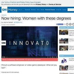 Women with engineering and computer science degrees have their pick of jobs - Jul. 7, 2016