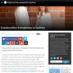 Engineering companies Sydney - Construction Companies in Sydney