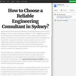 How to Choose a Reliable Engineering Consultant in Sydney?