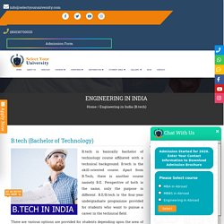Engineering in India - Courses, Fees, Admissions, Jobs
