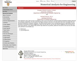Numerical Analysis for Engineering | Department of Electrical and Computer Engineering | University of Waterloo