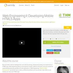 Web Engineering II: Developing Mobile HTML5 Apps