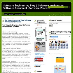 10 way to Improve Your Software Development Process!