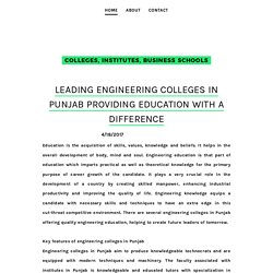 Leading engineering colleges in Punjab providing education with a difference - Management College, Institutes, B Schools for PGDM Courses