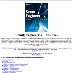 Security Engineering - A Guide to Building Dependable Distributed Systems