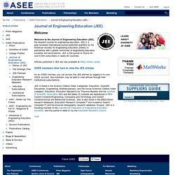 JEE: Journal of Engineering Education