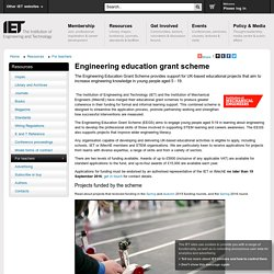 Engineering education grant scheme
