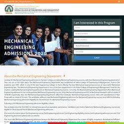Mechanical Engineering Admission process, Eligibility, Fee, Syllabus
