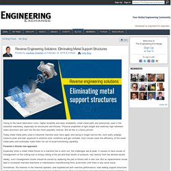 Reverse Engineering Solutions: Eliminating Metal Support Structures