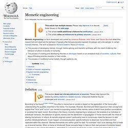 Memetic engineering