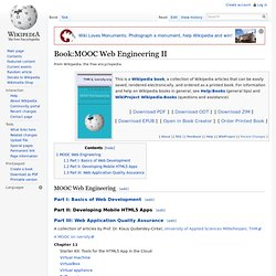Book:MOOC Web Engineering II