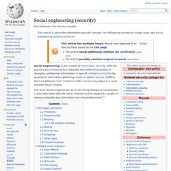 Social engineering (security)