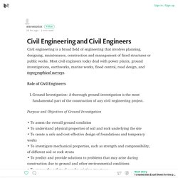 Civil Engineering and Civil Engineers