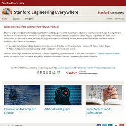 Stanford University - Engineering Everywhere (SEE)