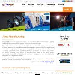 ERP for Machine, Parts & Fabrication ind.