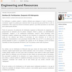 Engineering and Resources: Zeolitas (II): Fertilizantes. Zeoponia VS Hidroponia