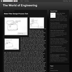 Water Filter Design Process Test