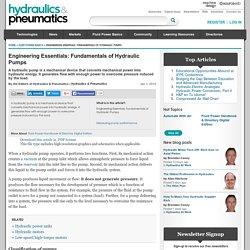 Engineering Essentials: Fundamentals of Hydraulic Pumps