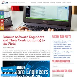 Computer Software Engineering Course's Top Industry Influencers