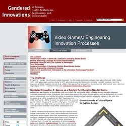 Video Games: Engineering Innovation Processes