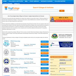 List of top Engineering Colleges in Chennai