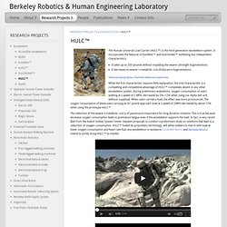 HULC™ | Berkeley Robotics & Human Engineering Laboratory