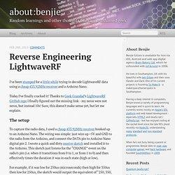 Reverse Engineering LightwaveRF - about:benjie