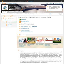 Pimpri Chinchwad College of Engineering & Research (PCCOER)